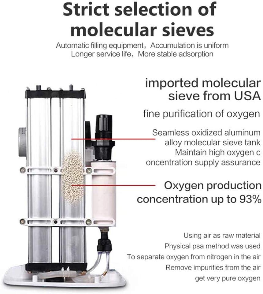Generador De Concentrador De Oxígeno 1-7L/Min Casa Oxígeno Máquina ...