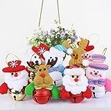 Conjunto de 8Árbol de Navidad Bell Ornamentos decoraciones Colored Bell muñeco de nieve Papá Noel Alce colgantes para el hogar Cocina