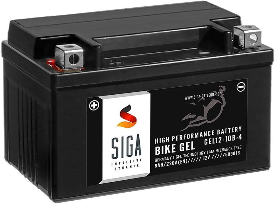 Siga Gel Motorradbatterie 12v 9ah 220a Elektronik