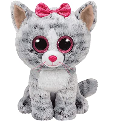 Ty Kiki Grey Cat Plush, Regular: Toys & Games