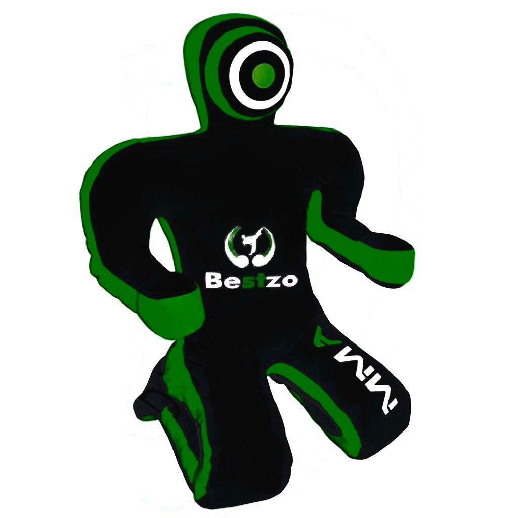 bestzo MMA Jiu Jitsu柔道Punching Bag Grapplingダミーグリーン/ブラックSitting Position hands on front-unfilled B077BS2VK6 Canvas Green/Black 70 inches (6 ft)
