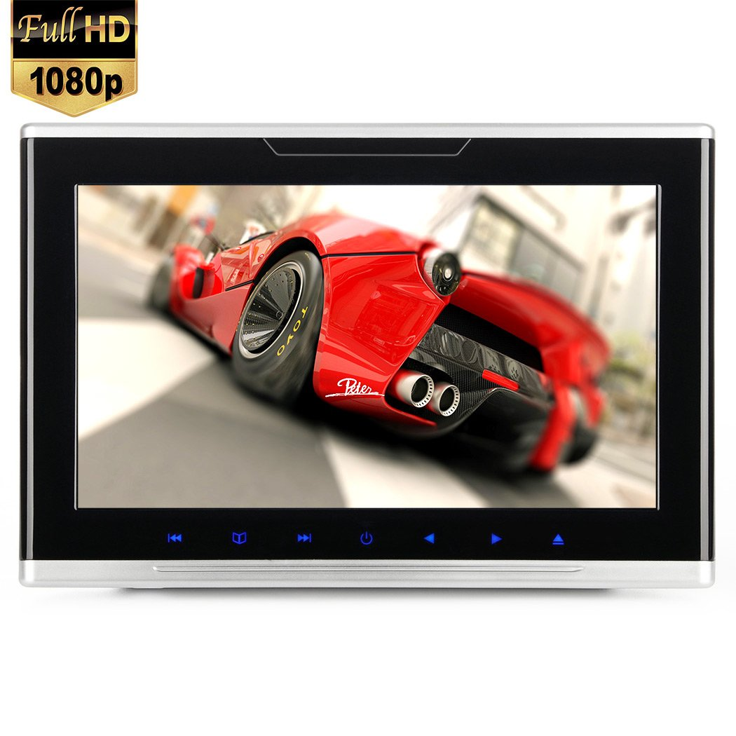 9 inch 1080P Car Headrest DVD Player Video Monitor Vehicle Entertainment System for Kids Screen Support Full HD Video Games USB SD