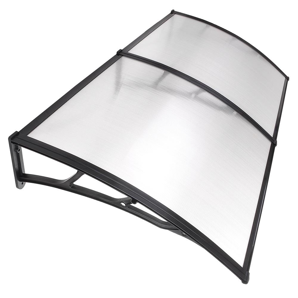 Yescom 79''x40'' Door Window Outdoor Awning Patio Cover UV Rain Protection 2 whole Polycarbonate Hollow Sheets