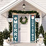 FUNPENY 2 Pack Snowman Christmas Porch Light Covers