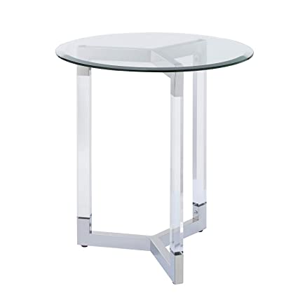 374243cf57a8 Image Unavailable. Image not available for. Color  Small Round End Table Acrylic  Table