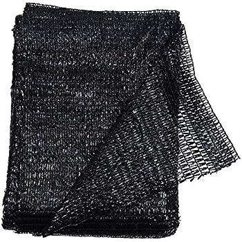 40% Black 6.5u0027x10u0027 Sun Mesh Shade Sunblock Shade UV Resistant Net For