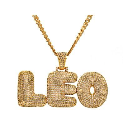 Seendom Custom Name Bubble Letters Chain Pendants Necklaces Mens ... 83ab0ca6a