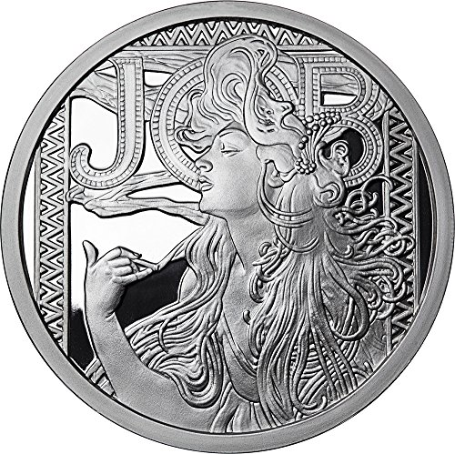 2017 United States Modern Commemorative JOB Alphonse Mucha Collection 1 Oz Proof Silver Medal 2017 (Modern United States Proof Coin)