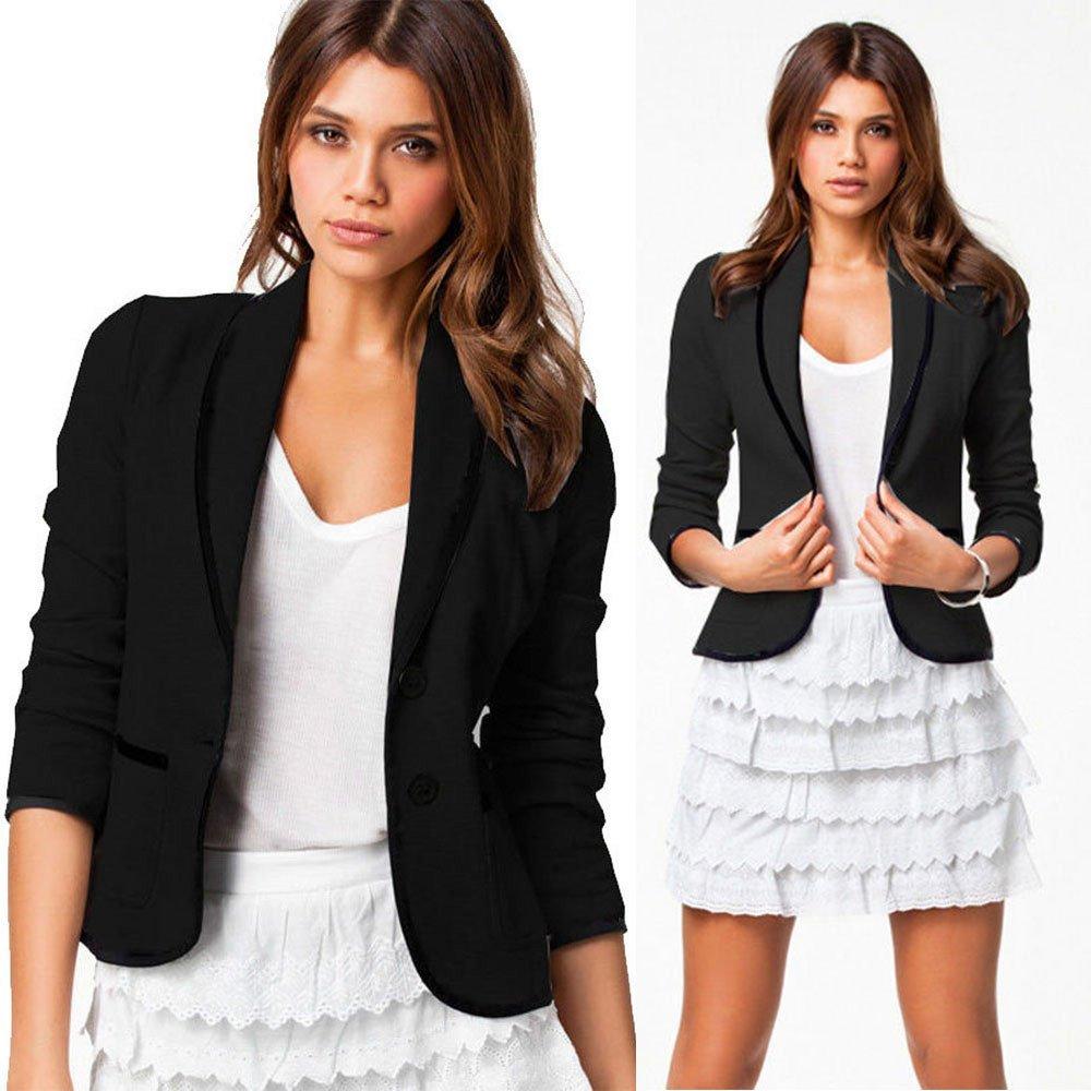 Deloito Women Business Coat Blazer Suit Long Sleeve Tops Slim Jacket Outwear Elegant Ladies Solid Coat Jackets Work Outwear Size S-6XL