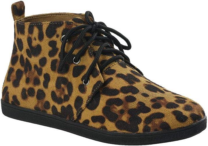 Amazon.com: Botines planos con cordones para mujer: Shoes