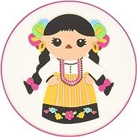 By Mexico Portavasos PVC modelo trajes tipicos muñecas colores set de 4