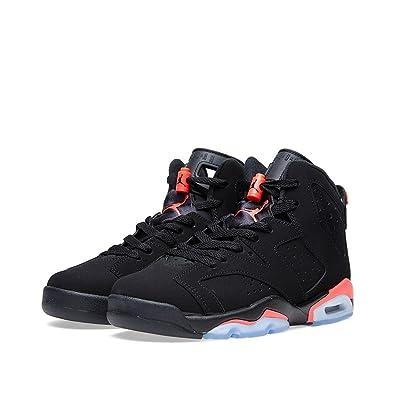 Nike Air Jordan 6 Retro BG, Chaussures de Sport Garçon - Différents Coloris  - Noir/Rouge (Black/Infrared 23), 36 1/2 EU EU: Amazon.fr: Chaussures et  Sacs