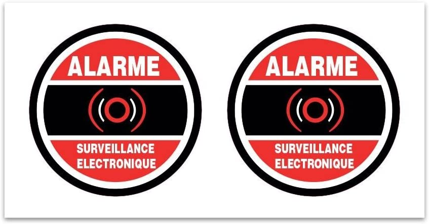 Planche de stickers Alarme surveillance electronique Z114