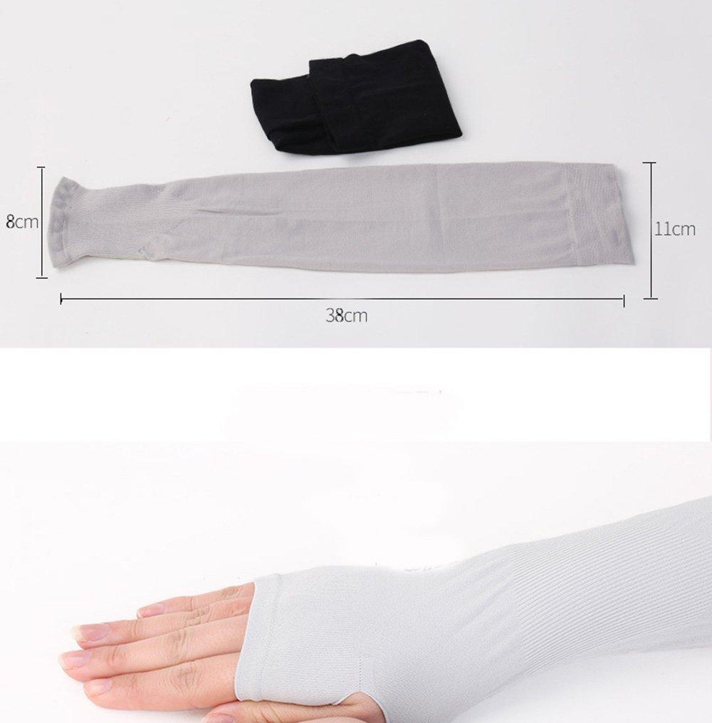 CHRISLZ Long Arms /Ärmeln Handschuhe UV Sun Protection Handabdeckungen Fingerless Elastic Stretch Arm