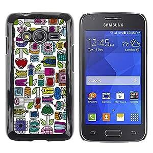 Estuche Cubierta Shell Smartphone estuche protector duro para el teléfono móvil Caso Samsung Galaxy Ace 4 G313 SM-G313F / CECELL Phone case / / Hand Drawn Colorful Minimalist /