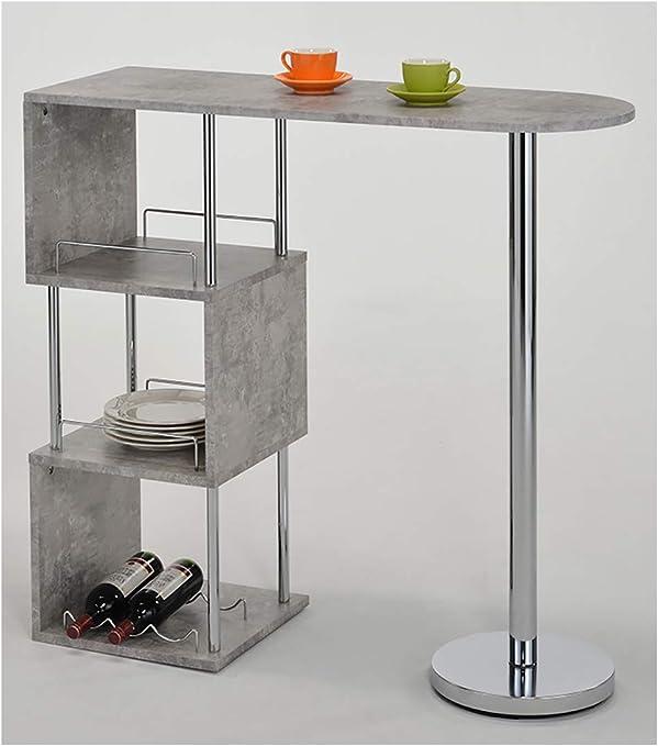 Meubletmoi Table Haute De Bar Comptoir Plan De Travail Effet Beton
