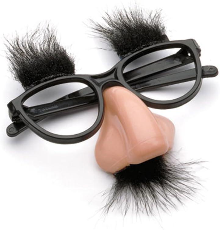 Glasses Mustache Fake Nose Clown Fancy Dress up Costume Props Fun Party Favor WT