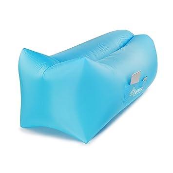 BEEWAY® hinchable, diseño de tumbona 2 nd Generation – Reposacabezas Comfort un puerto de