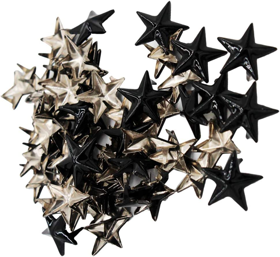 50 Pcs Metall Stern Nieten Pyramiden Bügelnieten Nieten Für Kleidung,