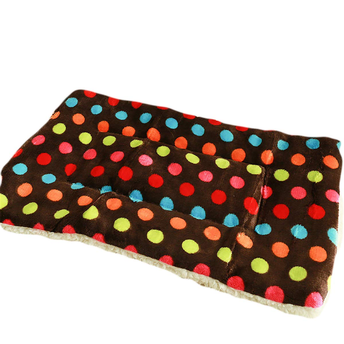 Brown Polka dots XL-39.529.52inch Brown Polka dots XL-39.529.52inch ALLNEO Deluxe Pet Beds Super Plush Dog & Cat Beds Ideal for Dog Crates Bed Ultra Soft Crate Pad Home Washable Mat for Dogs and Cats Crate