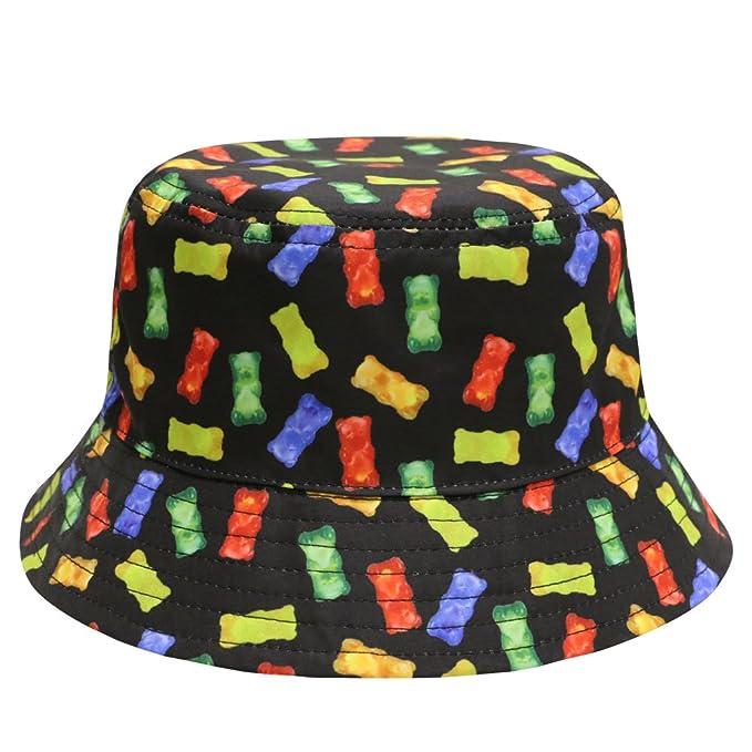 Amazon.com  City Hunter Bd1950 Food Bucket Hat - Black Gummy Bear ... f60f7c0e9e2