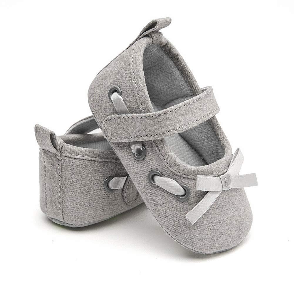 Black 11cm Alamana Fashion Infant Baby Kid Girl Bowknot Soft Sole Prewalker Toddler Shoes Gift