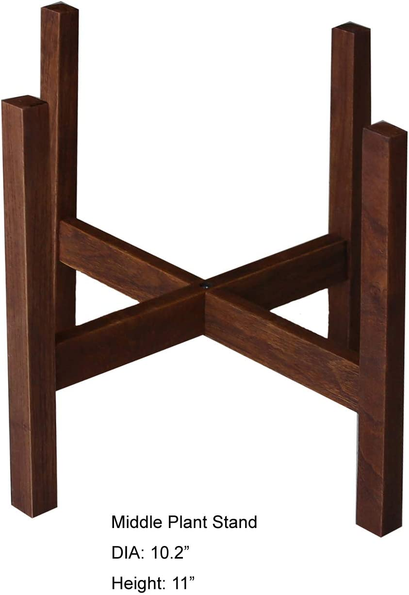 Mid Century Modern Plant Stand With Square Legs Planter Stand Hand Made In Canada Walnut Wood Retro Home Decor 10 Brown Amazon Co Uk Garden Outdoors