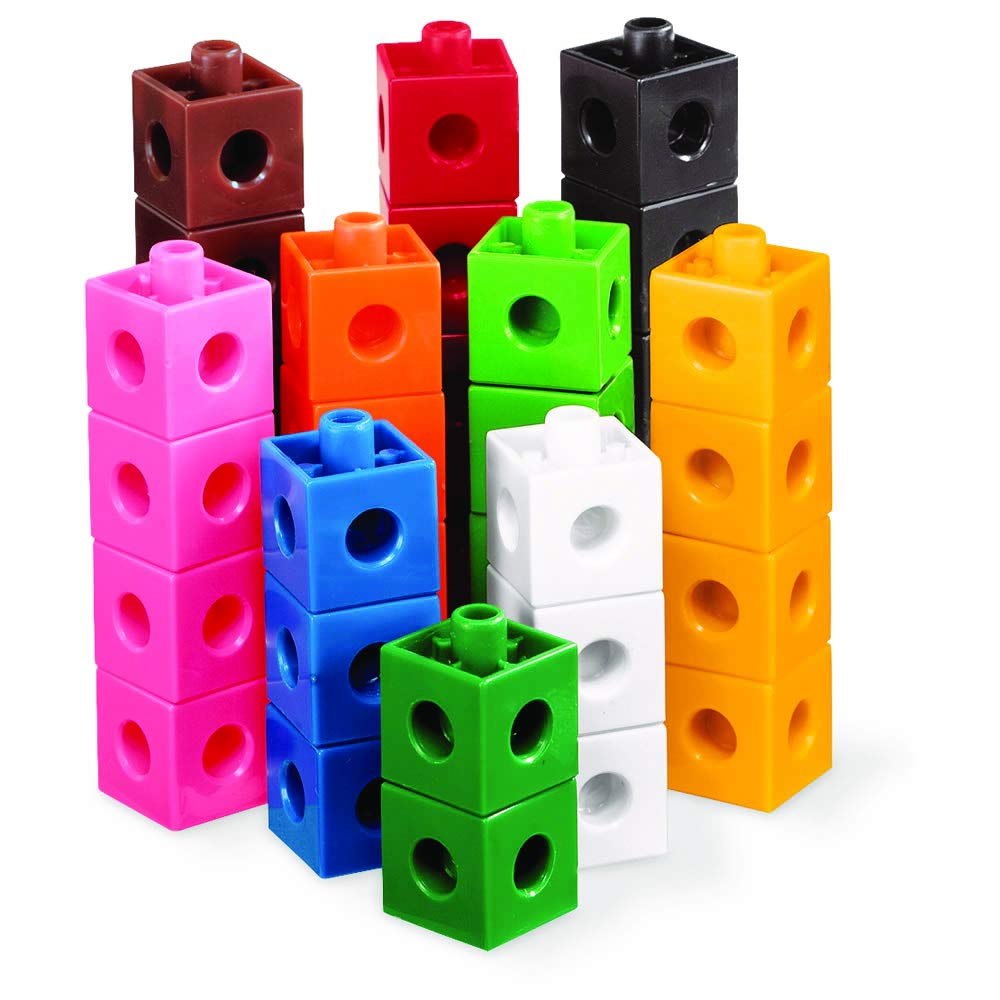 hand2mind Linking Pop Cubes, Educational Counting Math Toy (Set of 500)