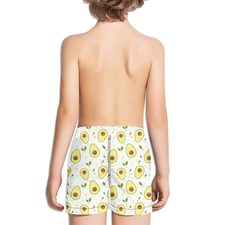 Lenard Hughes Boys Quick Dry Beach Shorts with Pockets Avocado Love Swim Trunks for Summer by Lenard Hughes (Image #2)