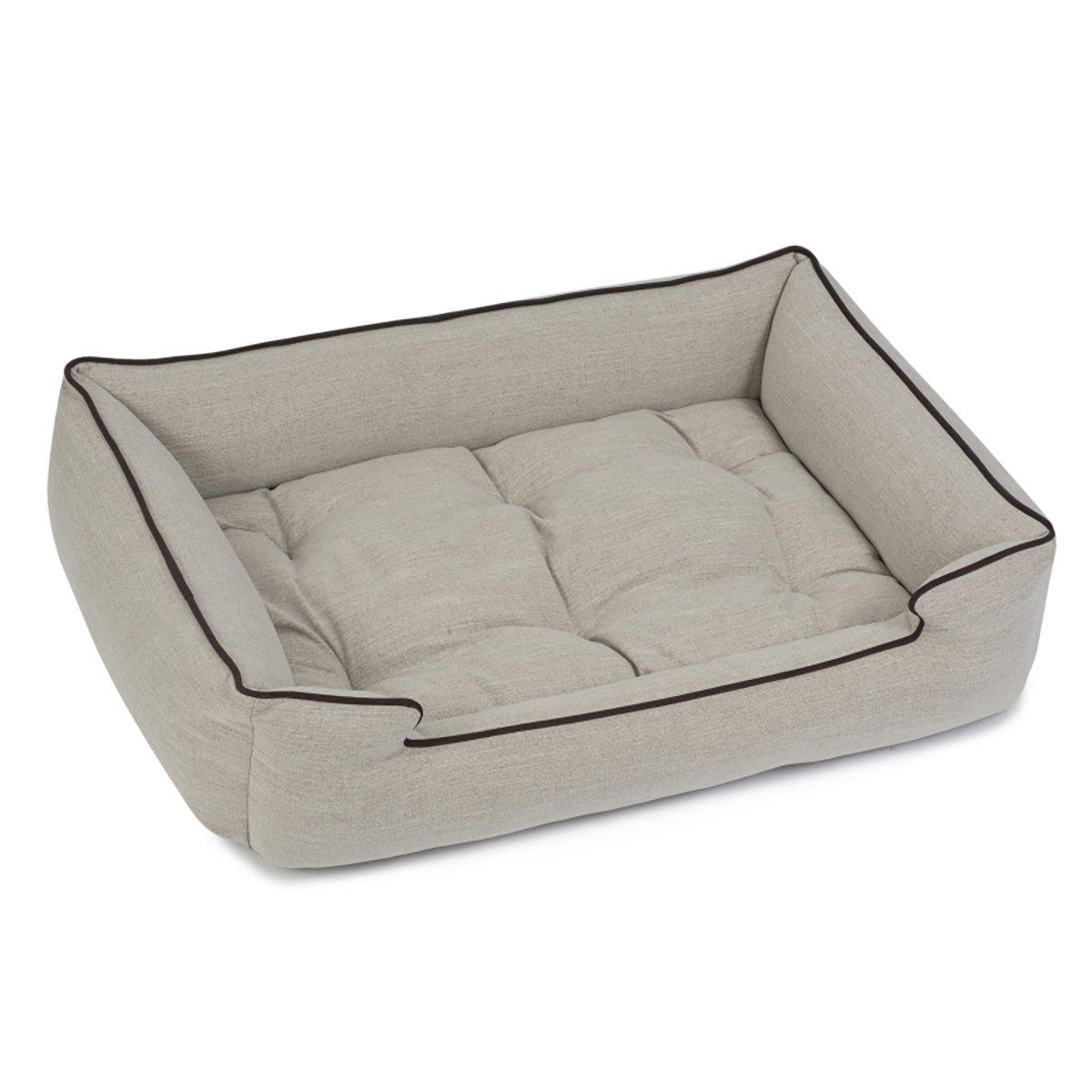 Jax and Bones Standard Textured Linen Sleeper Bed, Small, Windsor Linen