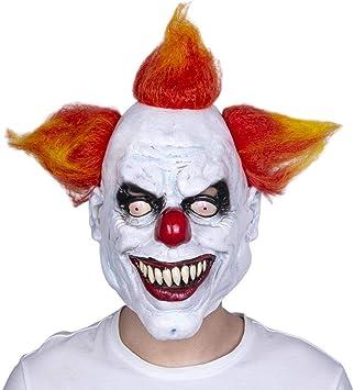 Maschera It Pagliaccio.Hmhh Maschera Di Halloween Capelli Arancioni Sorridenti Del Lattice Del Pagliaccio Maschera In Cosplay Scary Full