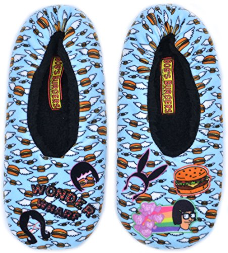 Jump Footwear Men's Bob's Burger Non-Slip Anti-Skid Slipper Socks With Grippers, Large/Extra Large