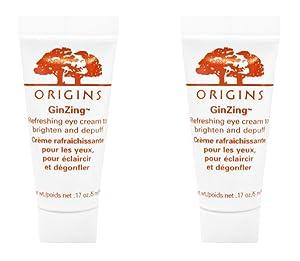 Origins Ginzing Refreshing Eye Cream to Brighten & Depuff .17 Oz 5ml (Lot 2)