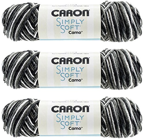 Bulk Buy: Caron Simply Soft Camo Yarn (3-Pack) Night Camo 294011-11040