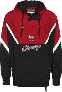 Mitchell /& Ness Chicago Bulls Packable Nylon Anorak Jacke