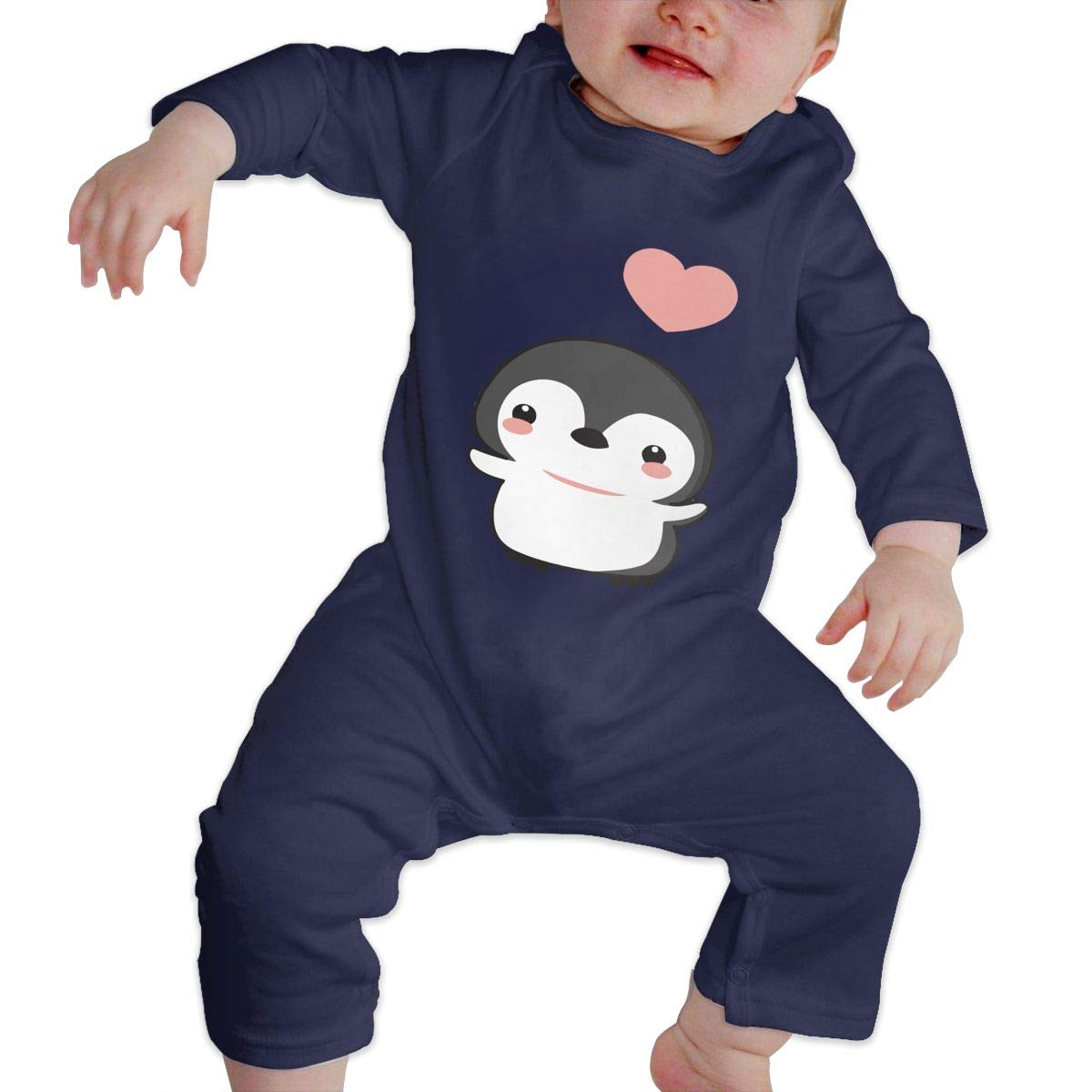 Q64 Baby Girls Round Collar Penguin Long Sleeve Playsuit 100/% Cotton Suit 6-24 Months