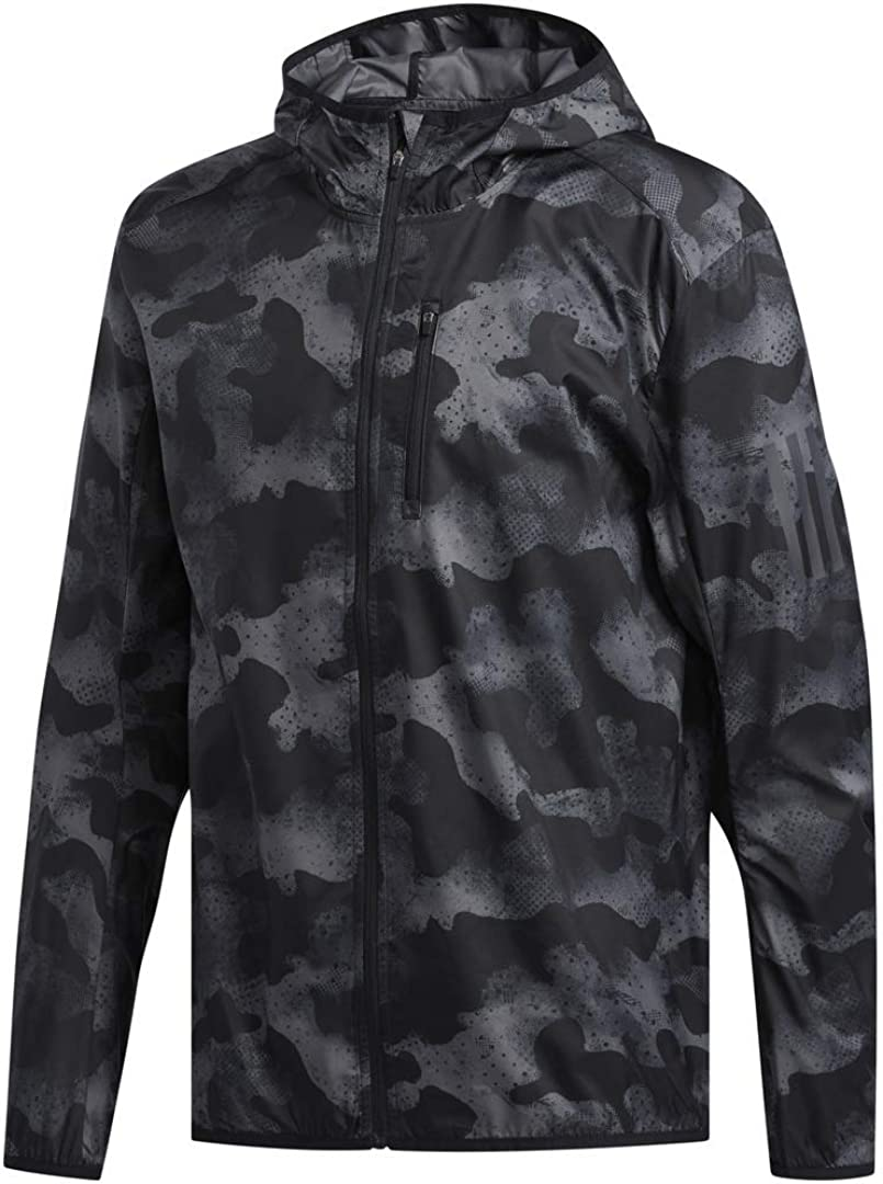 adidas Men's Own The Run Hooded Jacket : Clothing