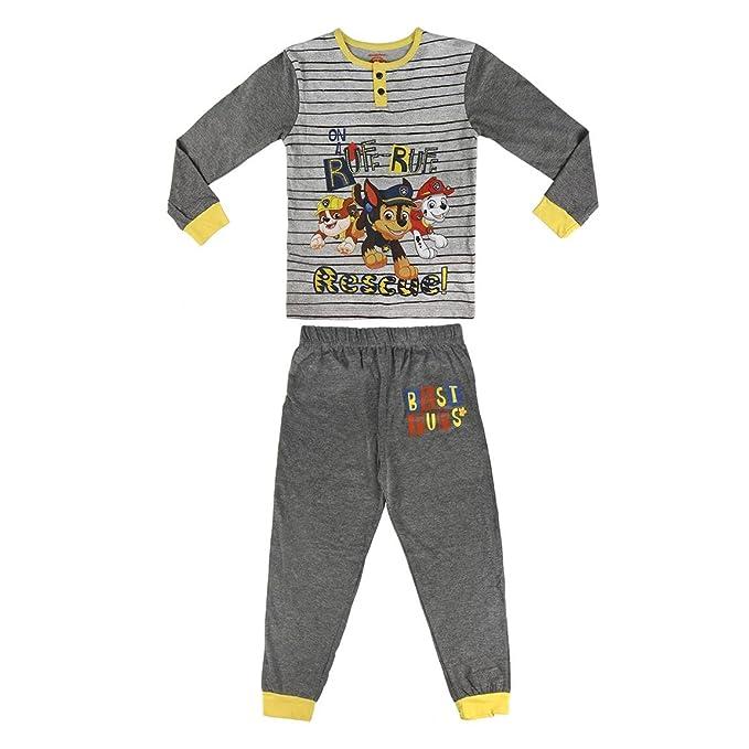 Pijama niño Paw Patrol gris rayas dos piezas (6)