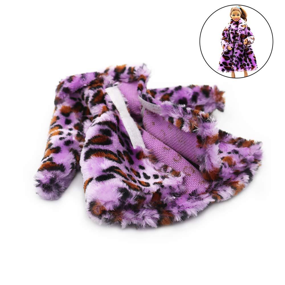 Xiton 1PC del diseño Moderno de Barbie Felpa Escudo del Vestido Largo Abrigo de los Juego para la muñeca de Barbie Decoración (púrpura): Amazon.es: Juguetes ...