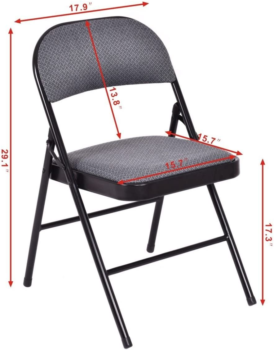Celina Tent Bellbrook White Plastic Folding Chair with 17 Gauge Frame, Set of 10, Commercial Grade Event Seating