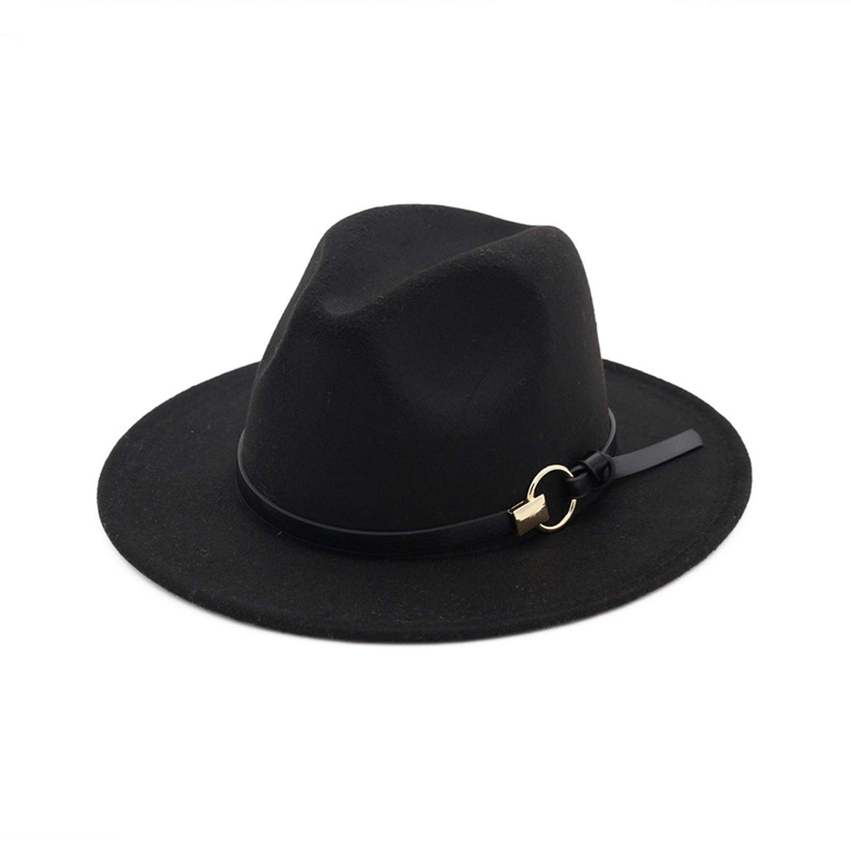 Wool Fedora Mens Hat Wide Brim Felt Classic Gentleman Winter Hats Womens Elegant Floppy Trilby Top Jazz Cap