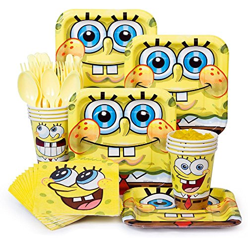 Spongebob Party Supplies Standard Kit Serves 8 Guests