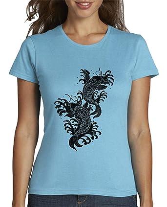 latostadora - Camiseta Koi Tatuaje Carpa para Mujer ...