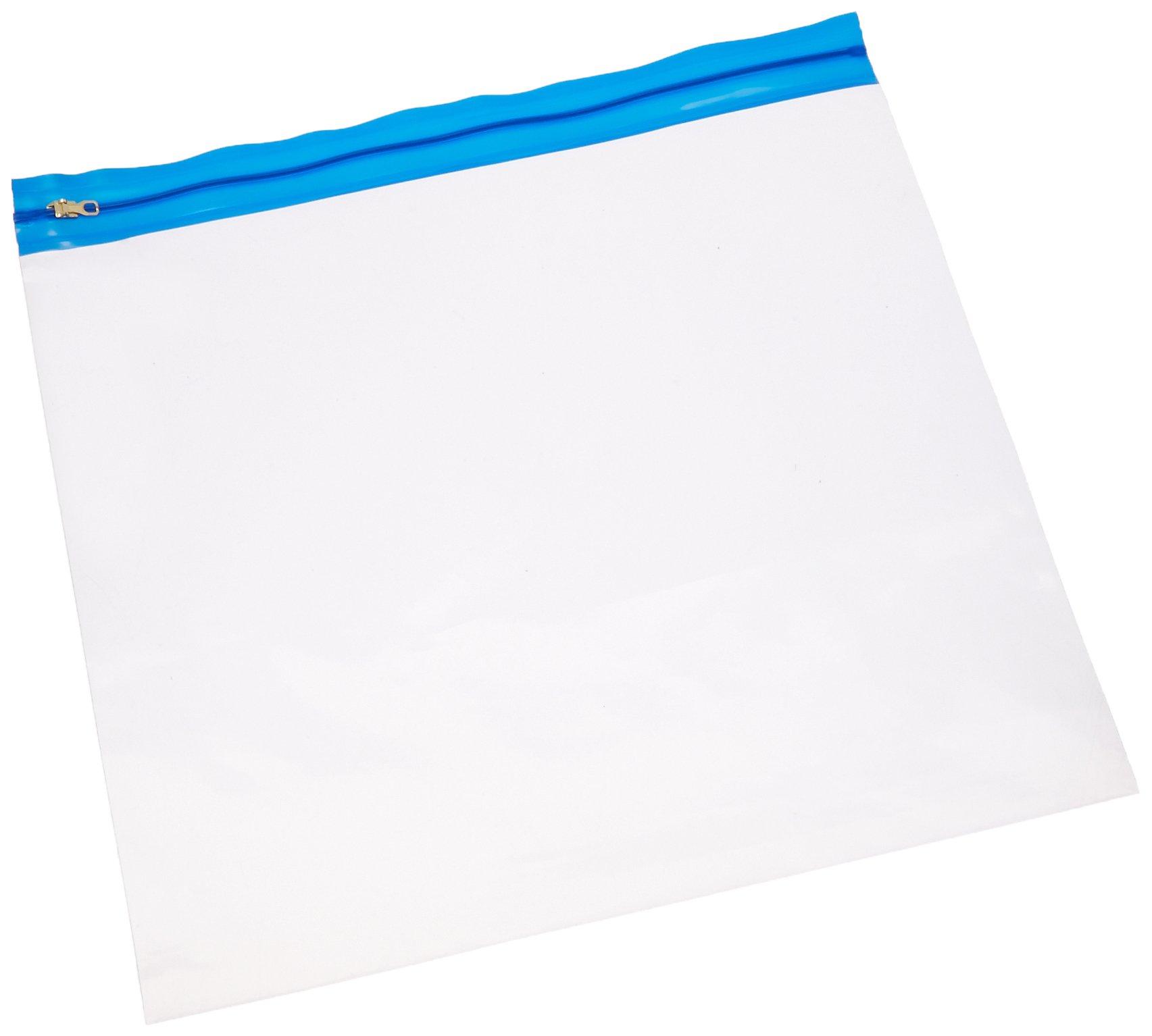 Zipafile Bags 14''X13''-Blue 25 per Pack