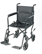 PCP Mobility & Homecare Lightweight Transport Chair, Foldable, Black