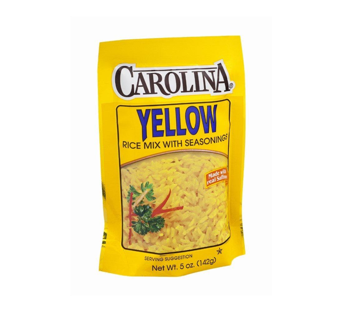 Amazon.com : Carolina Yellow Rice Mix With Seasonings 5 Oz. Pack Of ...