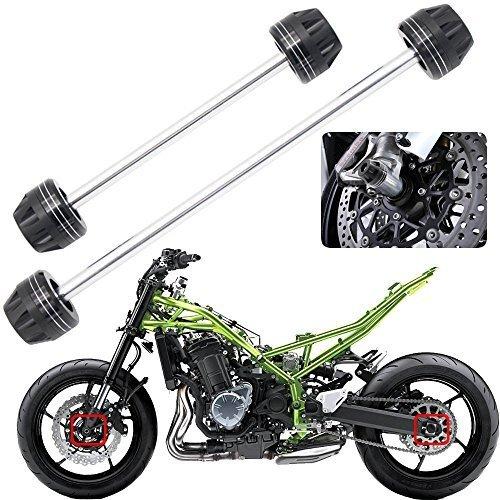 (Motorcycle Aluminum Front & Rear Axle Fork Crash Sliders Wheel Protector For SUZUKI GSXR650 GSXR750 GSX-R 600/750 2011-2014)