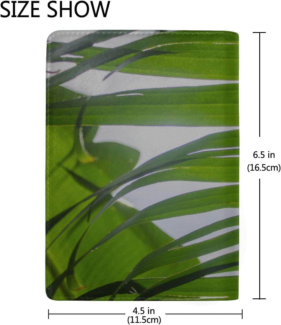 Passport Cover Large Beautiful Of Green Tropical Leaves Stylish Pu Leather Travel Accessories Funny Passport Cover For Women Men