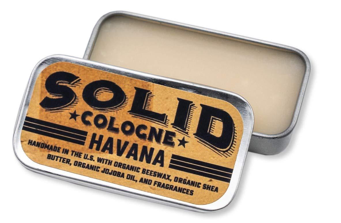 SOLID Cologne -''Havana'' Scent - Men's''Pocket-Size'' Fragrance. - .25 oz Tin