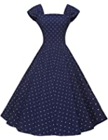 GownTown Womens 1950s Polka Dot Vintage Dresses Audrey Hepburn Style Party Dresses